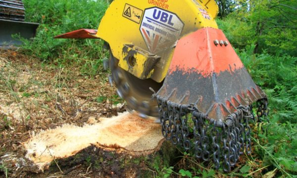 Tree stump removal using stump grinders