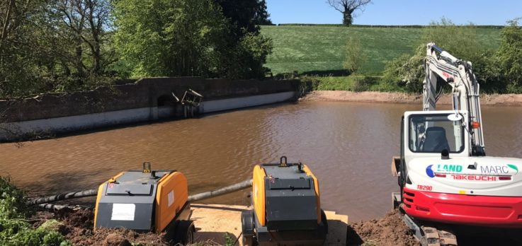 Wombourne pool silt removal