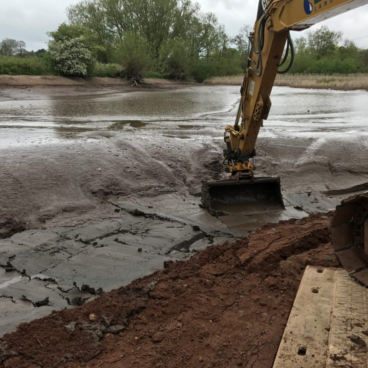 Wombourne silt removal