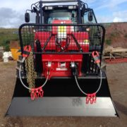 Double drum winch on valtra