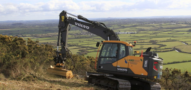 Volvo mulching and excavator machinery