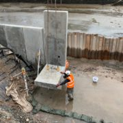 Kingsbridge quay wall construction