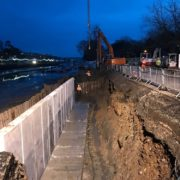 Kingsbridge quay wall rebuilding
