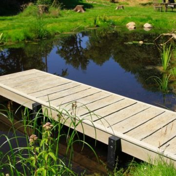 Natural Swimming Pond with Jetty