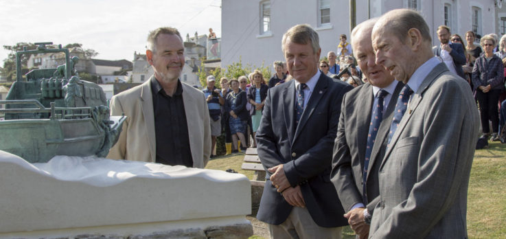 8 Unveiling Salcombe sculpture with HRH Duke of Kent