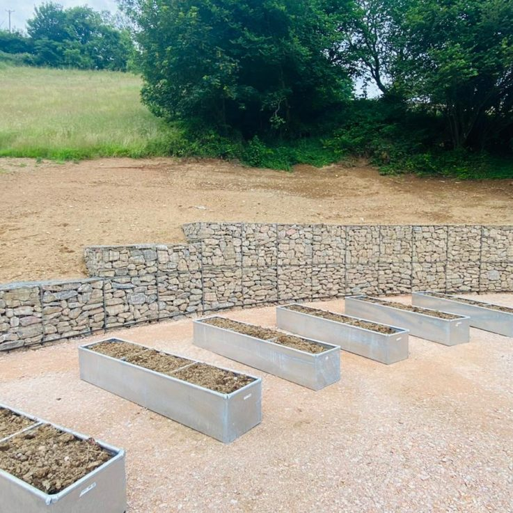 Gabions and planters